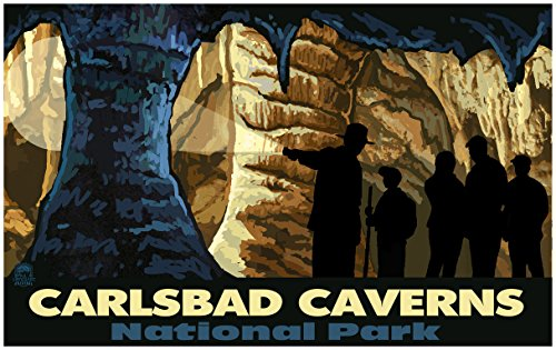 Carlsbad Caverns Cave Tour New Mexico Travel Art Print Poster by Paul A. Lanquist (24