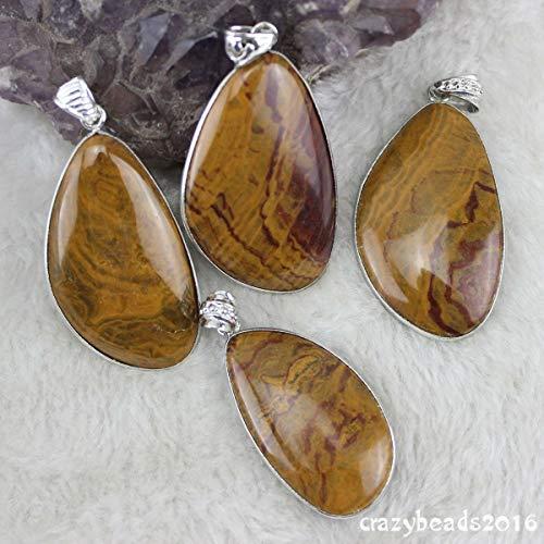 FidgetKute Pretty Wood Grain Stone Freeform Teardrop Pendant Beads DIY Jewelry Making Stone 02