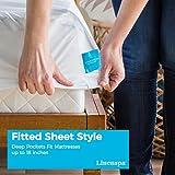 LINENSPA-Premium-Smooth-Fabric-Mattress-Protector-100-Waterproof-Hypoallergenic-10-Year-Warranty