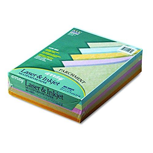 Pacon 101079 Array Colored Bond Paper, 24lb, 8-1/2 x 11, Assorted Parchment, 500 Sheets per ()