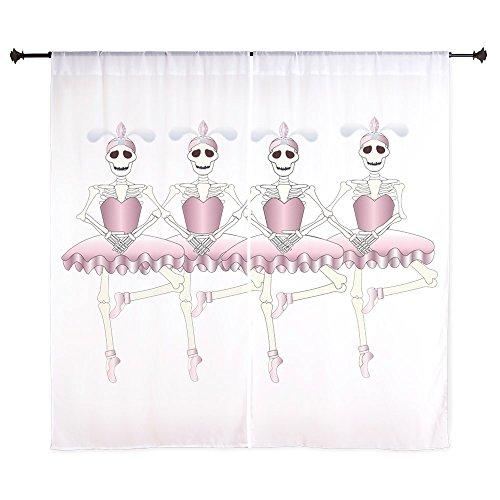 60 Inch Curtain Curtains Dancing Ballarina Skeletons En Pointe ()