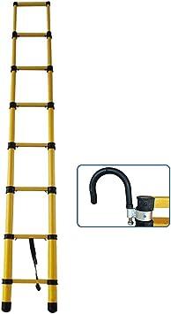 Escaleras Telescópicas Escalera telescópica para trabajo pesado multiusos de 4 m / 13 pies con ganchos, escalera de extensión telescópica portátil para loft de ingeniería, capacidad de 330 lbs.: Amazon.es: Bricolaje y herramientas