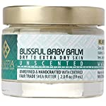 Alaffia - Blissful Baby Balm, For Dry to Extra Dry Skin, Moisturizing Support to Gently Soothe and Calm Baby with Shea Butter, Calendula, and Coconut Oil, Unscented, 2 Ounces 13 100% FAIR TRADE: Feel good about how you are getting your products with 100% Certified Fair Trade Ingredients. FORMULATED FOR BABY'S SKIN: Blissful Baby Balm soothes, calms and moisturizes your baby's skin with certified fair trade shea butter and virgin coconut oil MULTIPURPOSE FOR MANY NEEDS: Shea Butter has been proven scientifically to heal small cuts, burns and chapped skin, and is ideal for babies.