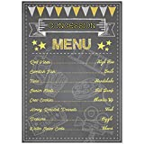 concession menu - Musykrafties Home Theater Concession Menu Poster Food Sign Wall Art 16x12