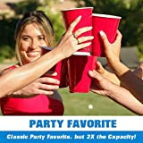 GoBig 36oz Giant Red Party Cups 50 Pack - Holds