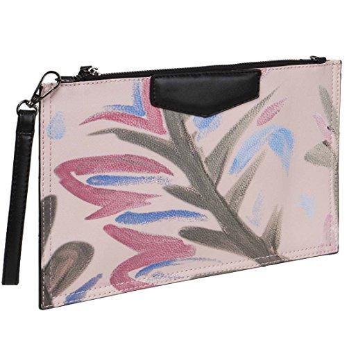 Clutch Handbag Strokes Design Ultra Womens Mixed Printed BMC Fashion Thin Brush 640qT