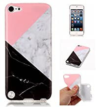 iPod 5 / iPod 6 Three&Colour Marble Case,IVY [Marble] iTouch 5th 6th TPU Case Cover for iPod Touch 5 / iPod Touch 6 Phone