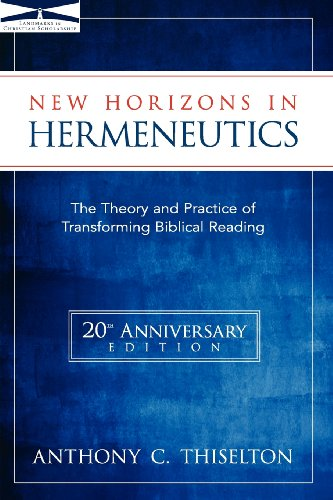 New Horizons in Hermeneutics by HarperCollins Christian Pub.