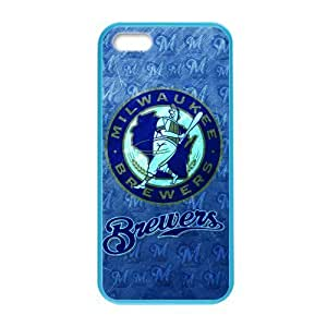 Milwaukee Brewers of MLBCustom Colorful Case for iPhone 5,5s.