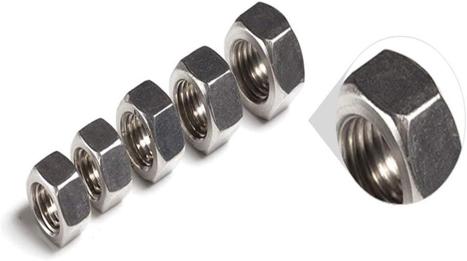 Size : M2.5 YJZG 100pcs//lot Metric Thread DIN934 M2 M2.5 M3 M4 M5 304 Stainless Steel Hex Nuts Hexagon