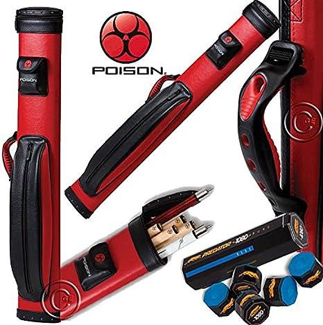 Funda taco billar Poison by Predator Disco vaina Tubo Capacidad 2 tiros y 4 puntas. (Incluye tiza Predator.: Amazon.es: Deportes y aire libre