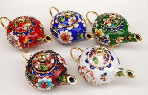 Cloisonne Teapot - In Various Colors