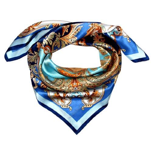 - LORENZO CANA Italian Scarf Pure Silk 35x35