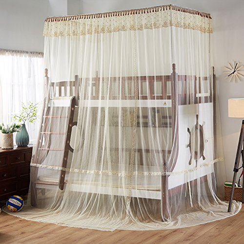 SIOFSVDFDFASDD Square netting curtains,Drawstring netting curtains,Bunk bunk bed netting bedding Stair bed canopy Student bunk bed nets one bed nets-N Full-size