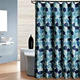 Uphome Pebble Stall Shower Curtain, Blue and Grey Cobble Stone 36 X 72 Fabric Shower Curtain Heavy-Duty Waterproof and Polyester Bathroom Curtains for Shower Bathtubs