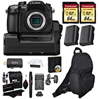Panasonic Lumix DMC-GH4 Mirrorless MIcro 4/3 Digital Camera with DMW-YAGH 4K Video Interface Compact System +2x Transcend 64GB U3 + 2 Batteries + Full Size Backpack + Charger + Premium Accessory Kit Explained Review Image