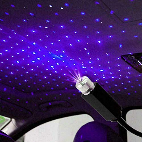 ANLUQIRIYON Star Projector Night Light Car Roof Lights Romantic USB Galaxy Night Lamp Portable Adjustable Atmosphere Decoration LED Light for Home Ceiling Party Festive