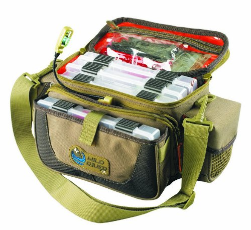 Cheap Wild River by CLC Custom Leathercraft WT3505 Tackle Tek Mission Lighted Convertible Tackle Bag with Four PT3500 Trays, Small