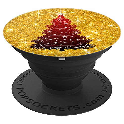 Merry christmas tree gold - PopSockets Grip and Stand for Phones and Tablets