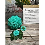 Jing-Rise-Artificial-Roses-flowers-50PCS-Fake-Roses-for-DIY-Wedding-Bridal-Bridesmaids-Bouquets-Floral-Baby-Shower-Centerpiece-Corsage-Cake-Flower-Birthday-Party-Home-Office-Decoration-Aqua-Green