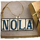 New Orleans Street Tile Ornament NOLA Christmas ornament w/ GIFT BOX Xm New Orleans ornament decor decoration Mardi Gras wedding favor w New orleans Gift travel tree souvenir hostess French QUarter