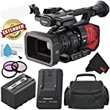 Panasonic AG-DVX200 4K Professional Camcorder with Four Thirds Sensor and Integrated 13x Leica Zoom Lens - Silver Level Bundle