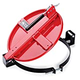 """New Pig Latching Drum Lid, For 5 to 16 Gal Steel Drums, Bolt-Ring, 21"""" L x 15"""" W x 4"""" H, Red, DRM167-RD"""