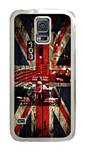 Samsung Galaxy S5 Case, Wood Hamilton Clear Plastic Hard Snap on Protective Case Back Cover for Samsung Galaxy S5 I9600