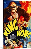 Great BIG Canvas Gallery-Wrapped Canvas entitled King Kong Colored 3
