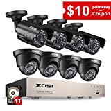ZOSI Security Camera System 8CH 4-IN-1 HD-TVI 1080N/720P Surveillance Video...