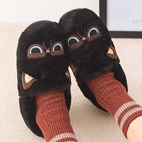Dimensioni 43 Augaust Per Antiscivolo Da Donna Nero Bagno Pantofole Cotone In Nero colore 42 vRqArwv7