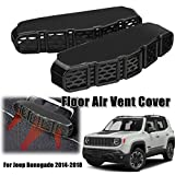 MONNY 2 for Jeep Renegade 2014-2018 Car Under Seat Floor AC Heater Air Conditioner Vent Grille Cover Outlet Protective Car Accessories