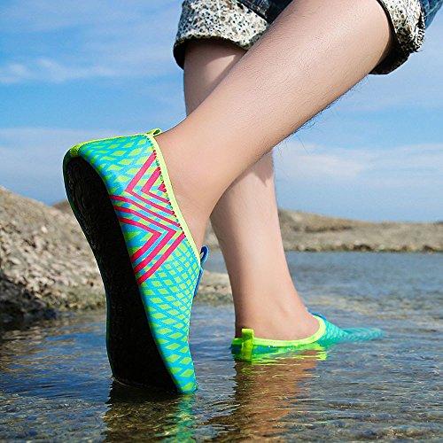 Deesee (tm) Hommes Femmes Eau À Séchage Rapide Aqua Chaussettes Plage Surf Yoga Chaussures Dentraînement Bleu