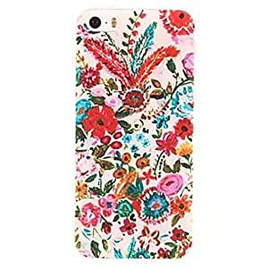PEACH Colorful Flowers Pattern PC Hard Case for iPhone 5/5S