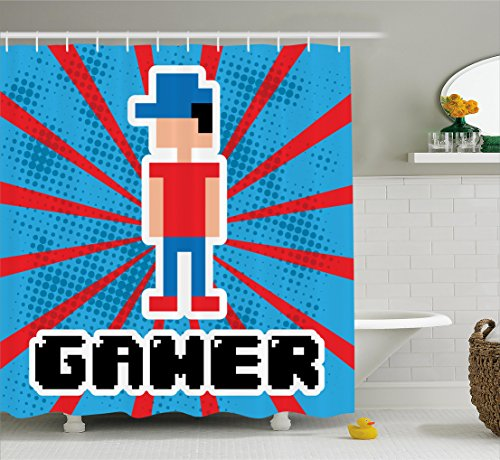 Video Game Shower Curtain   9