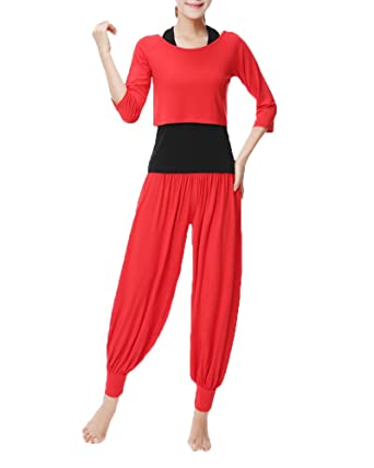 ShiFan Mujer 3Pcs Chándal Casual Yoga Conjuntos Camisetas Tops + ...