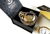 Firefighter Gold Pocket Watch Luxury Full Hunter Fire Brigade Fire & Rescue Worker Gift