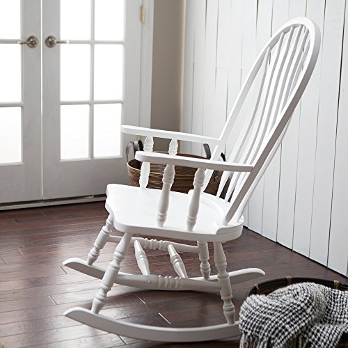 Windsor baby nursery rocking chair white buy online in for Sedia a dondolo nursery