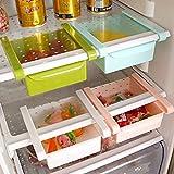 1PCS Freezer Storage Organizer Bins Space Saver (Pink)