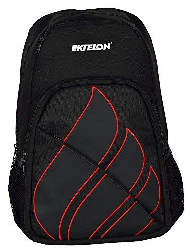 Ektelon Team Backpack Racquetball Bag – Black/Silver/Red – DiZiSports Store