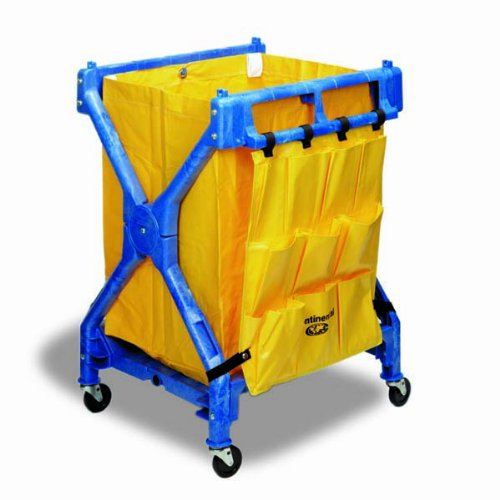 CMC 276 Yellow Vinyl Replacement Bag, 20-1/2 Width x 29-1/2 Height x 20 Depth, For Huskee Folding Cart (Case of 6) by Continental Commercial (Image #1)