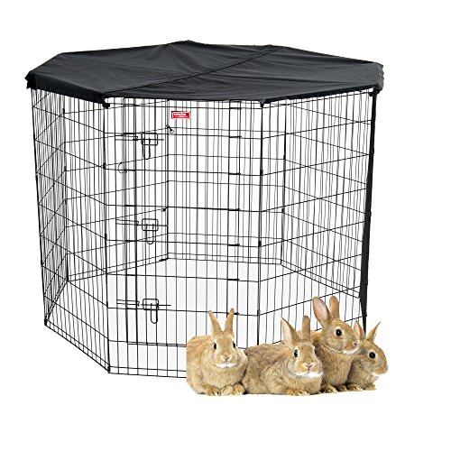 Lucky Dog Pet Exercise Pen with Cover, 48″ x 6′ For Sale