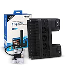 Kocome 5V Vertical Dual USB Stand Charger Cooling Dock for PS4 Slim PS4 Pro Console