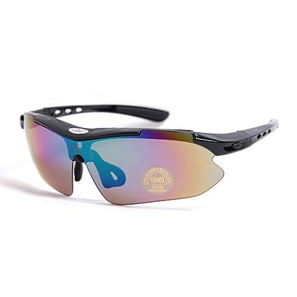 Inovey Parabrisas Gafas Deportivas Gafas De Sol Equitación Gafas Bicicleta Gafas Luz Polarizada - Azul Polarizado: Amazon.es: Coche y moto