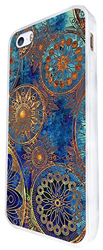 1396 - Cool Fun Trendy Cute Kawaii Space Hypnotise Kaleidoscope Colourful Peace Art Swirl (6) Design iphone SE - 2016 Coque Fashion Trend Case Coque Protection Cover plastique et métal - Blanc