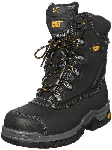 Leather W UK Cat Safety Boots Supremacy SB Black P 12 HRO Mens qOatwY