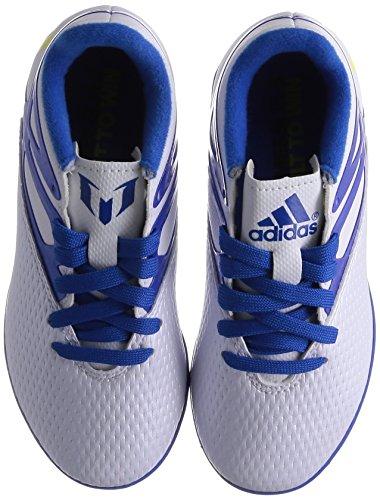 adidas Kinder Fussballschuhe MESSI 15.3 IN ftwr white/prime blue s12/core black 31