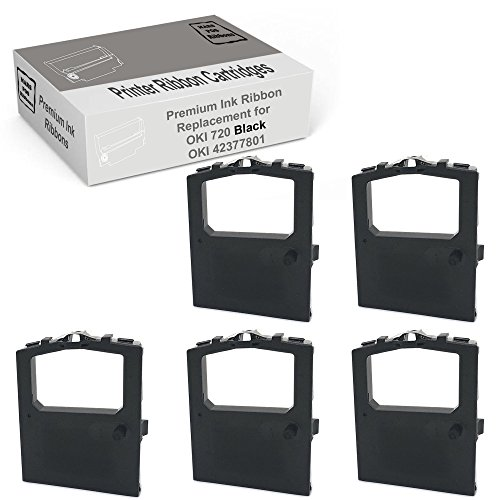 MARS POS Ribbons Compatible for Okidata 42377801 Ribbon 5 Pack Black Printer Ribbon Cartridges Replaces Following Models Oki Microline 420 420n 421 421n 490 490n 491 491n 720 721 790 (Okidata Oki Black Ribbon Cartridge)