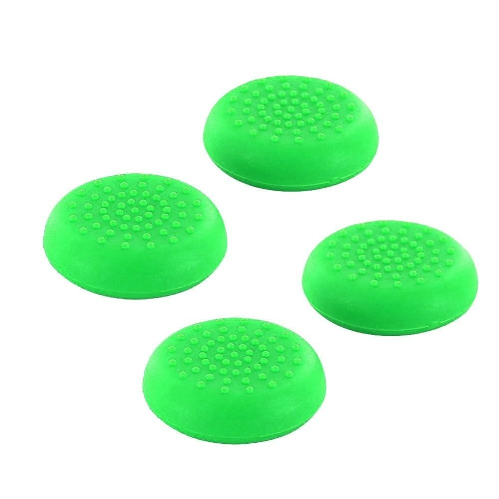 Analog Silicone Thumb Stick Grips Joystick Cap Cover for PS4 PS3 PS2 Xbox 360 Xbox One Game Controllers ( 4 pcs Green)