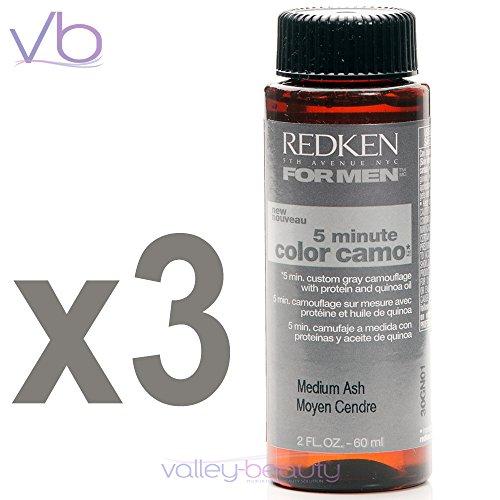 Redken For Men 5 Minute Color Camo - Medium Ash 3 bottles 2oz each